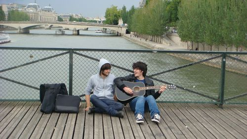 A couple of troubadors taking break